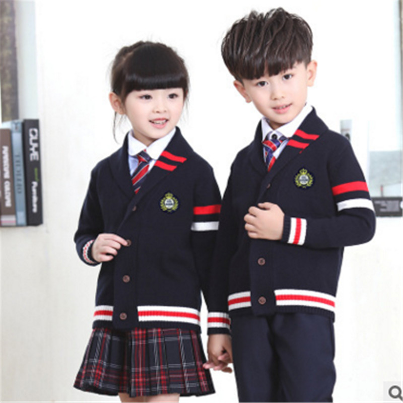 Kindergarten students dress autumn autumn 2016 new children's suits for boys and girls primary school class service uniforms british uniforms suit