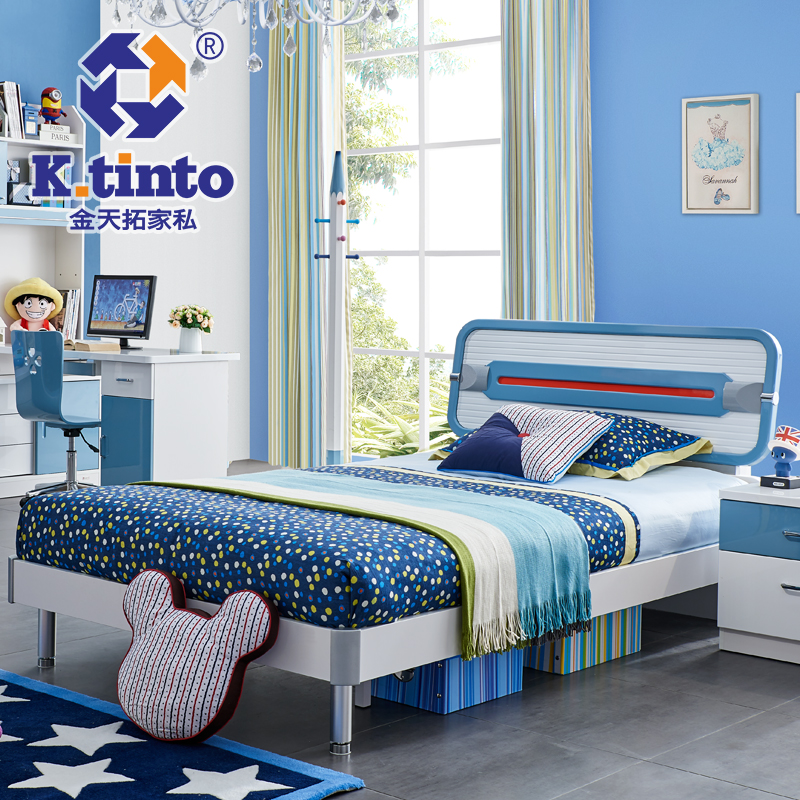 King day extension furniture children's bed boy crib beds 1.2 m wood bed children's beds boys 583