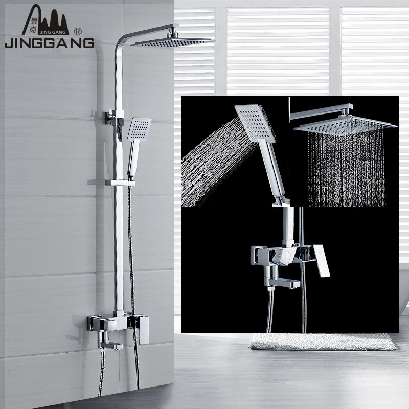 King kong bathroom shower faucet can lift the whole bathroom suite shower square full of copper hot and cold air nozzle turbocharger