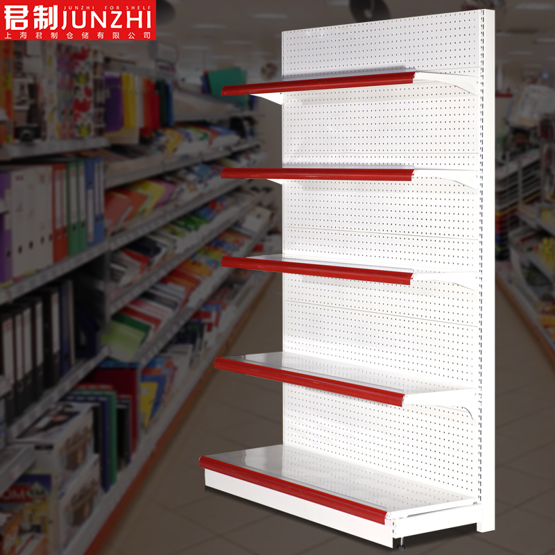 King thick hole plate supermarket shelves wholesale pinch home sided sided convenience store display racks small shelf