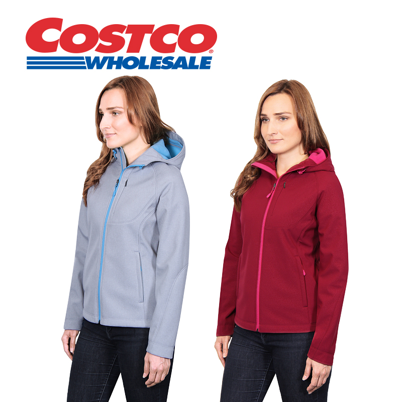 Kirkland signature kirkland costco woman windproof hooded autumn and winter coat collar jacket