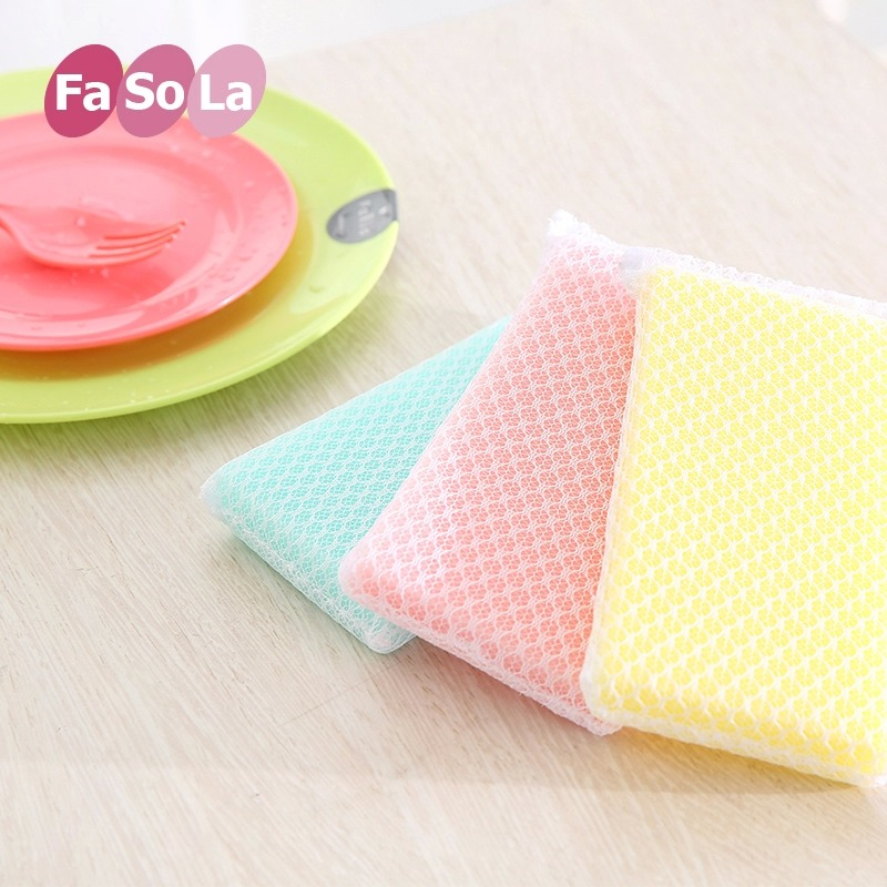Kitchen cleaning sponge scouring pad mesh nonstick oil nonstick oil wash cloth rag washing towels xiguo lint Brush is