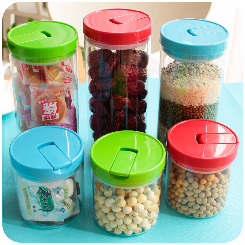 Kitchen food storage tank glass bottles sealed cans of milk dried fruit grains storage tank storage tank transparent plastic