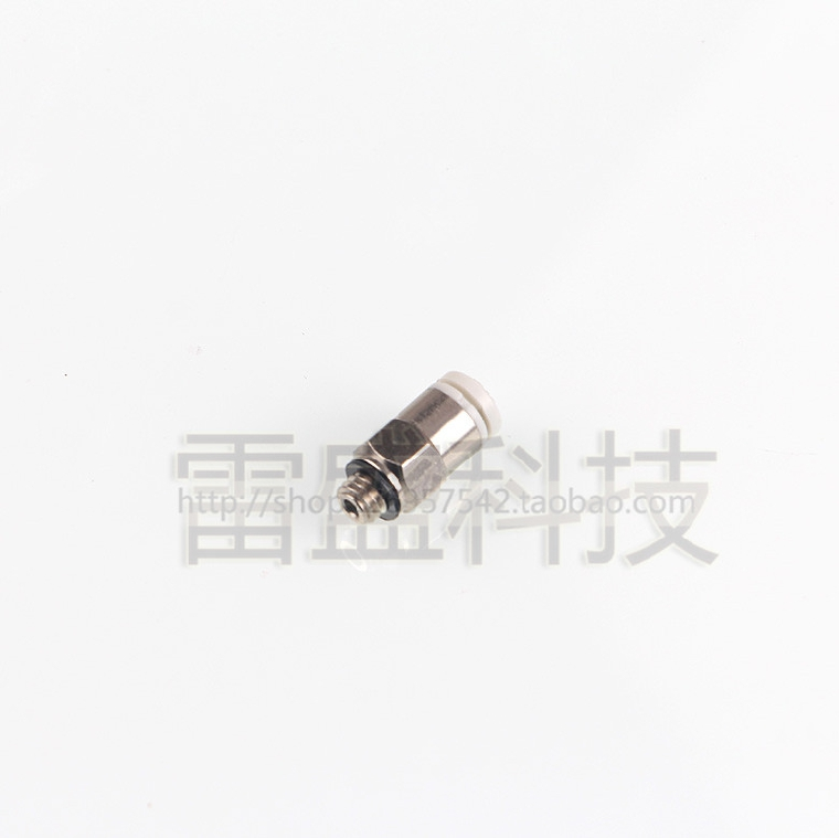 Kj series of foreign direct screw connectors kjh 04-M6 micro trachea through connector
