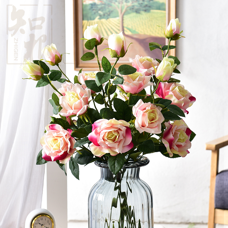 Get Quotations · Know The Root Simulation Flowers Artificial Flowers  Decorate The Living Room Rose Arches Wedding Silk Flower