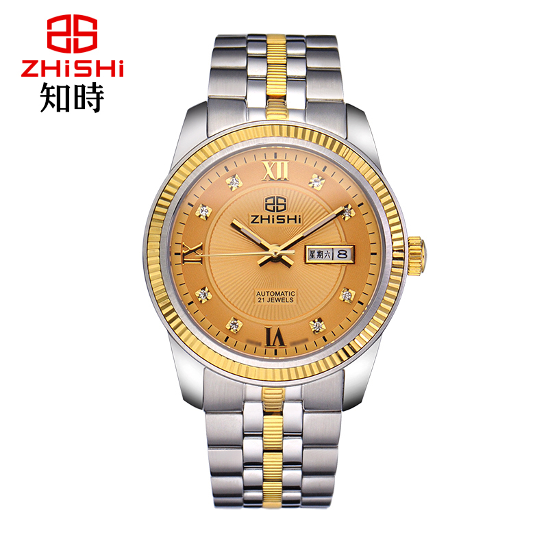 Know when genuine automatic mechanical watch premier miyota movement double calendar male table business casual atmosphere
