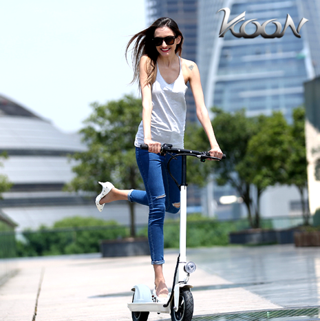 Koon lithium battery electric scooter s driving on behalf of adult generation step foldable mini portable bike electric car