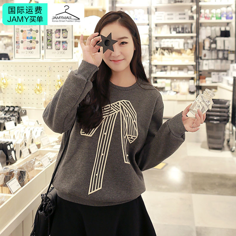 Korea genuine 2016 spring new popular casual charm fashion cute ladies sweater