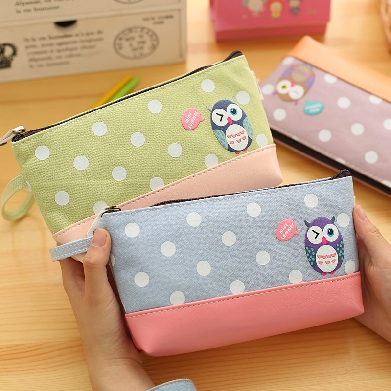 Korea stationery cartoon animals student stationery cute pencil bag pencil case cosmetic bag multifunctional storage bag girls