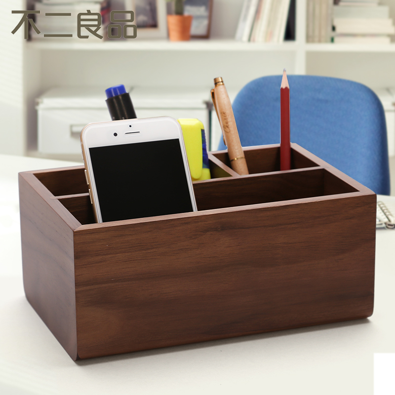 Korea stationery cute wooden pen holder creative fashion multifunction pen barrel wood office supplies desktop storage box