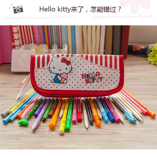 Korea stationery hello kitty hello kitty cartoon pencil case stationery large capacity pencil pouch
