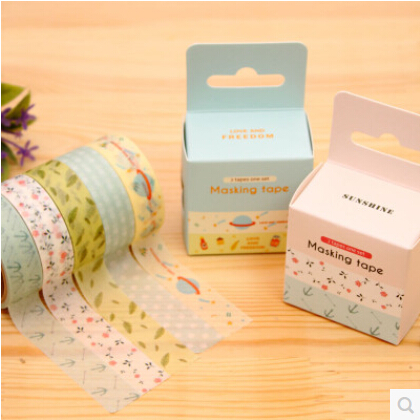 Korea stationery simple candy poem of the indian summer color shredded paper and paper tape pda diary stickers cute cartoon fresh