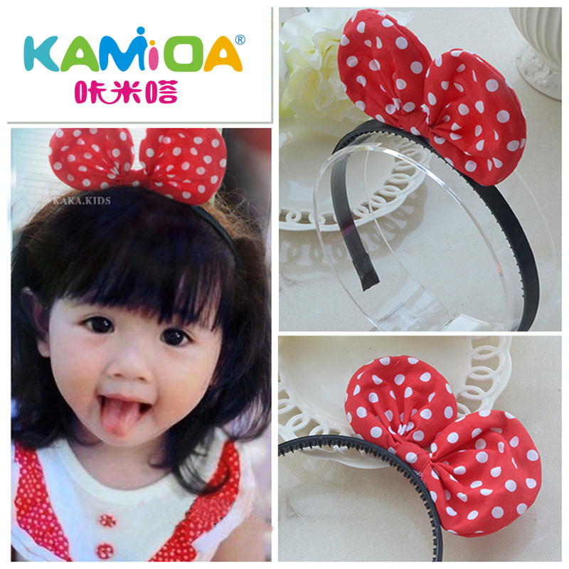 Korean children baby girls hair bands hairpin hairpin minnie mouse headband holiday costumes christmas children's jewelry cute hair bands
