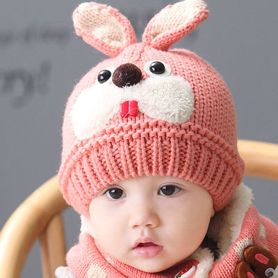 Korean children baby hats wool hat baby beanie knit winter hat ear cap hat baby boys and girls