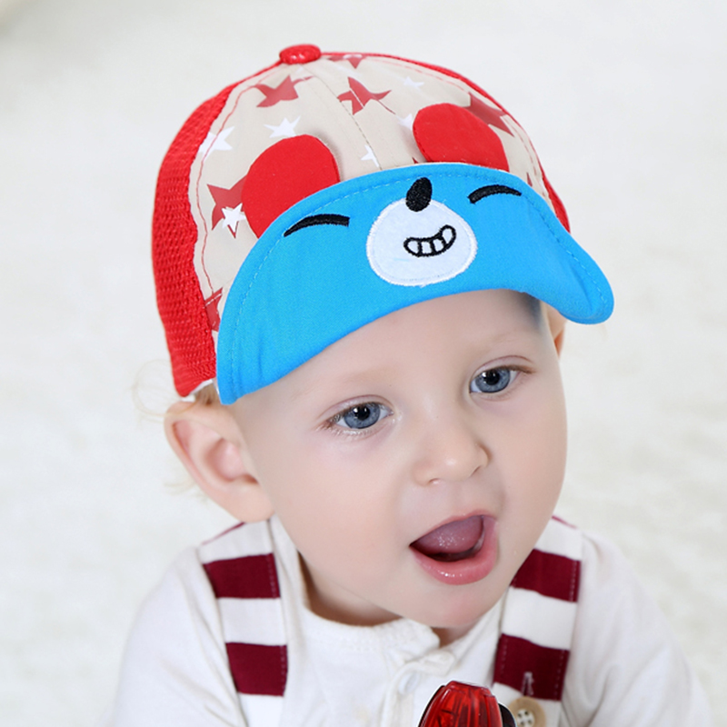 Korean children baby sun hat female months baby baseball hat male sun hat flanging summer