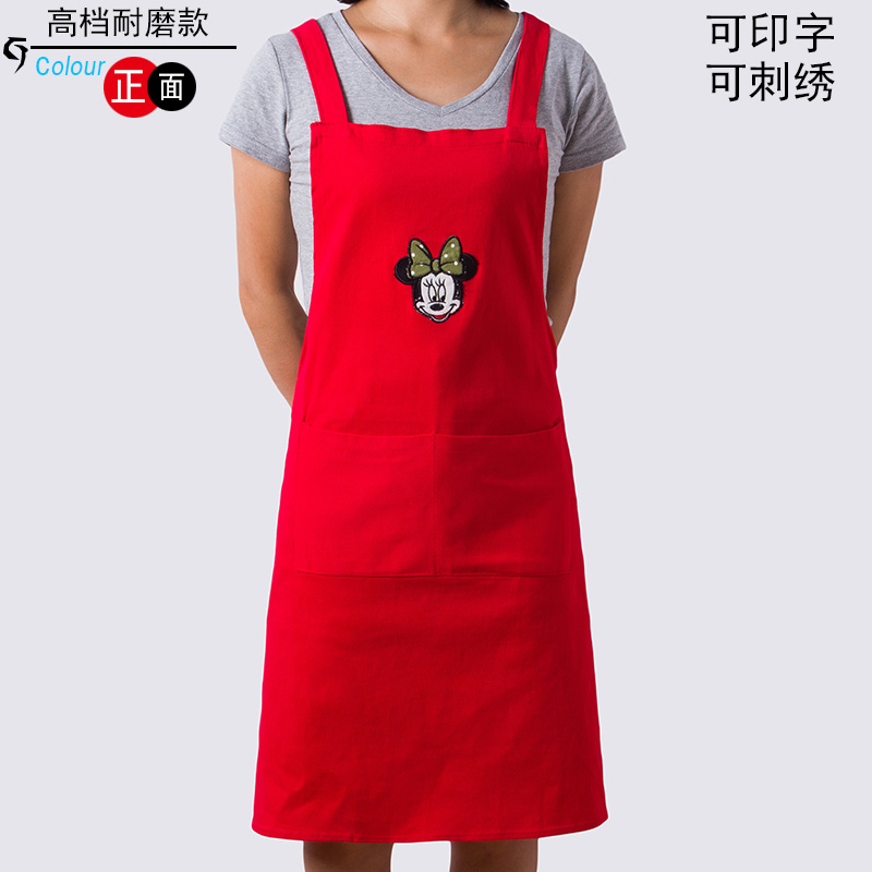 Korean fashion kitchen aprons free shipping custom logo custom advertising aprons aprons overalls waiter