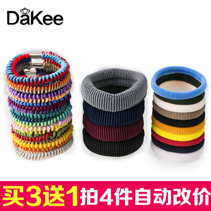 Korean fashion lovely color like a rubber band hair band ponytail hair tie tousheng hair rope tie head wild hair accessories hair tie hair