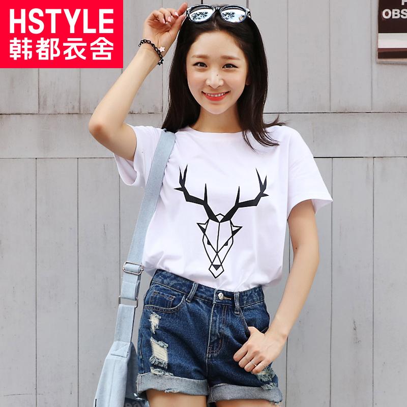 Image of: Summer Korean Homes Have Clothes 2016 Summer New Korean Women Cute Deer Tshirt Printing Wide Dhgate China Korean Cute Shirt China Korean Cute Shirt Shopping Guide At