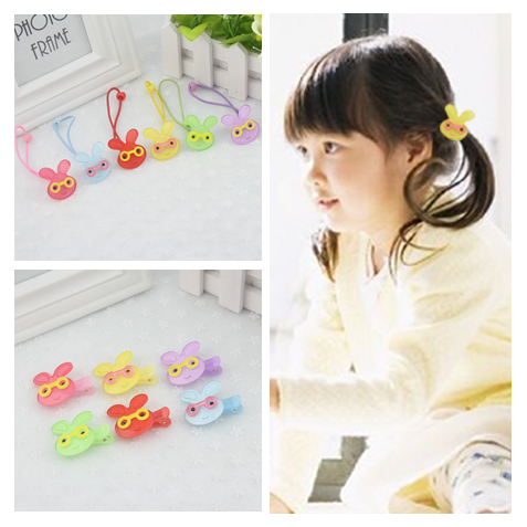 Korean infants and children hair accessories baby lovers win line does not hurt the hair clip hairpin hair accessories for girls cute acrylic pentagram hair ring hair rope