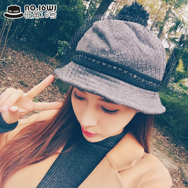 9ecd12abbf9c7 Get Quotations · Korean version of cashmere woolen hat bucket hats winter hat  female autumn in europe and america