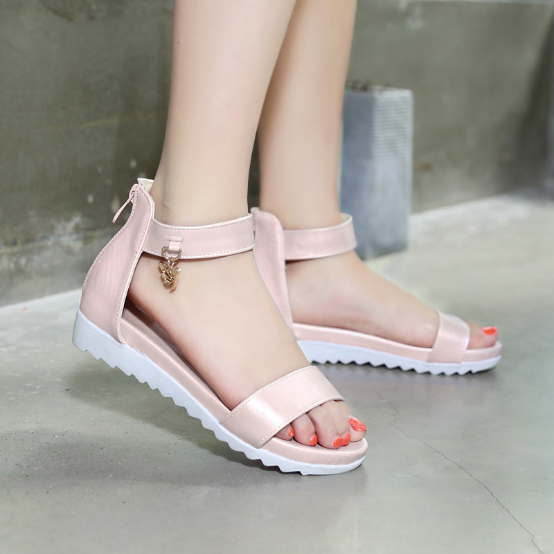 5d6aea071c4 Get Quotations · Korean version of casual flat with flat sandals wild child  big virgin girls sandals girls sandals