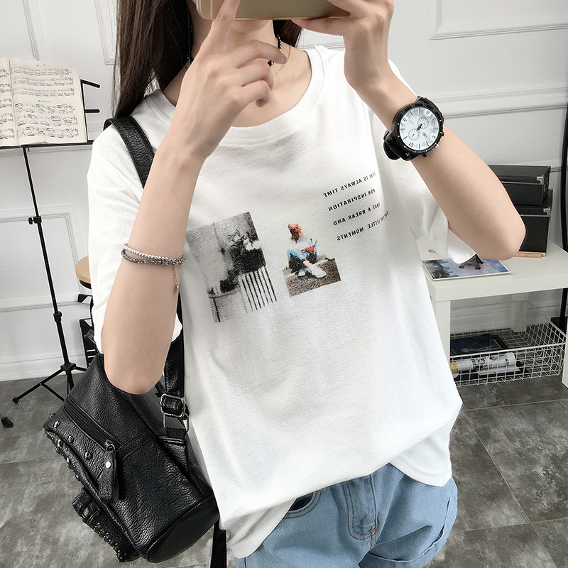 Korean version of compassionate short sleeve t-shirt women students sweater coat 2016 spring new wave of korean version of spring and summer clothes