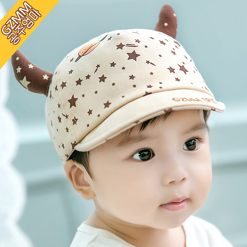 Korean version of the 1-2-year-old baby hat cap baseball cap summer sun hat baby hat sun hat breathable months