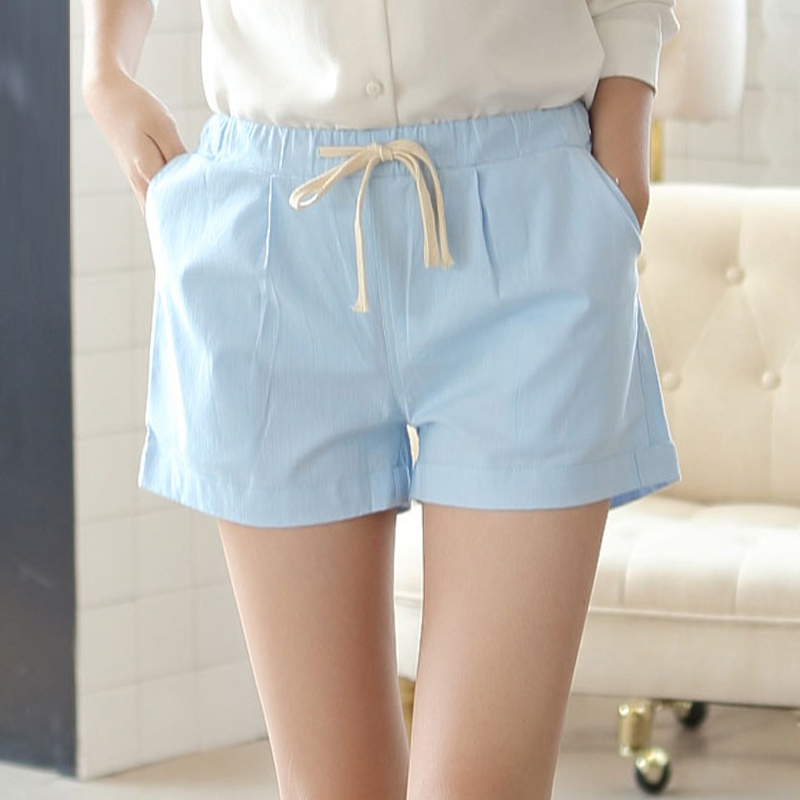 Korean version of the adolescent girls high school students college wind summer wild candy colored shorts shorts female summer casual pants adolescent years