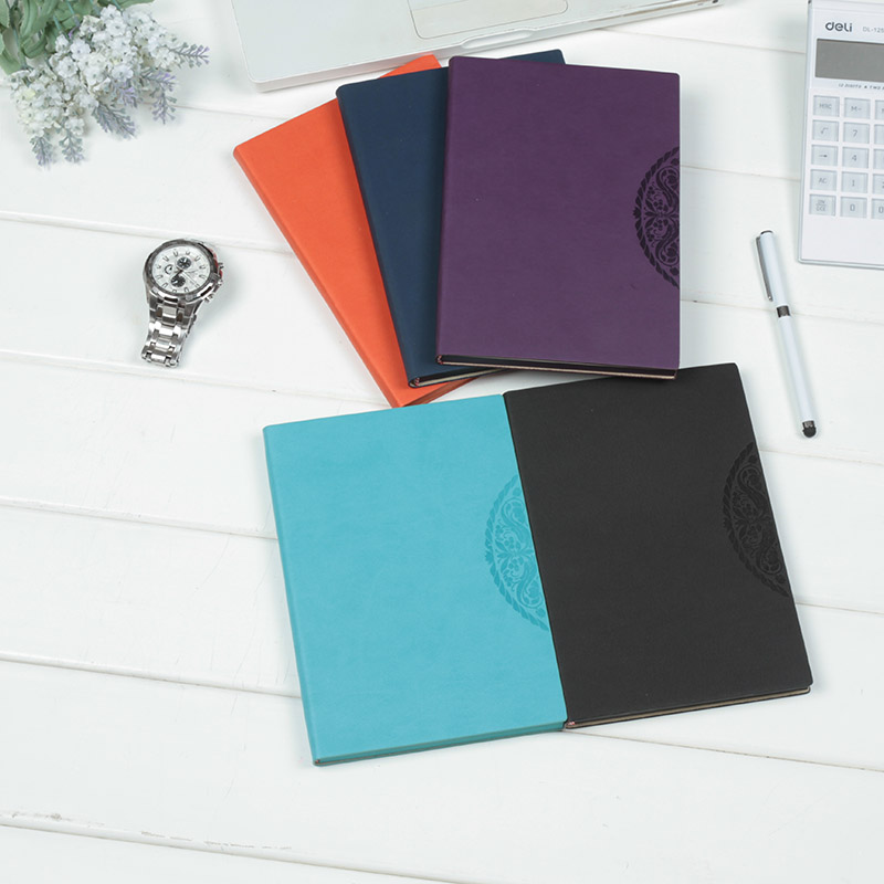 Korean version of the creative notepad office supplies stationery business notebook diary book korea thick leather notebook a5 custom