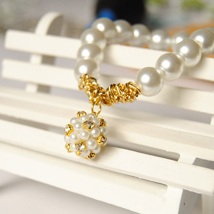 Korean version of the czech claw ball diamond show pictures of jewelry imitation pearl bracelet diy handmade beaded jewelry material package