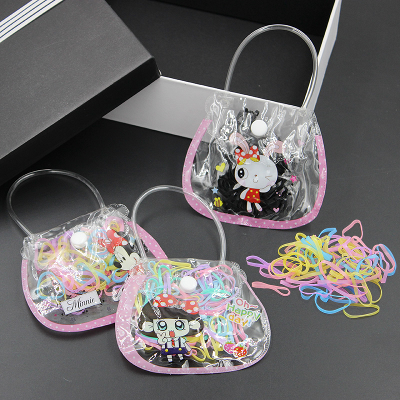 Korean version of the elastic rubber band hair accessories hair ring hair rope tousheng girls head ornaments children colored hair tie bags
