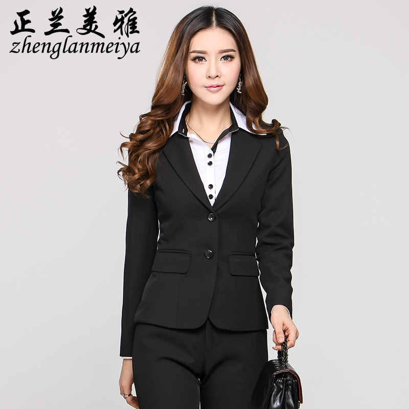 Korean version of the fall and winter wear women's fashion slim interview suit suit dress work wear overalls pants suit