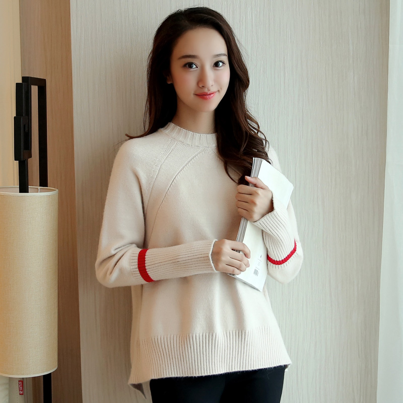 Korean version of the fall and winter winter thick autumn and winter outer wear loose short paragraph ms. set of head sweater sweater students