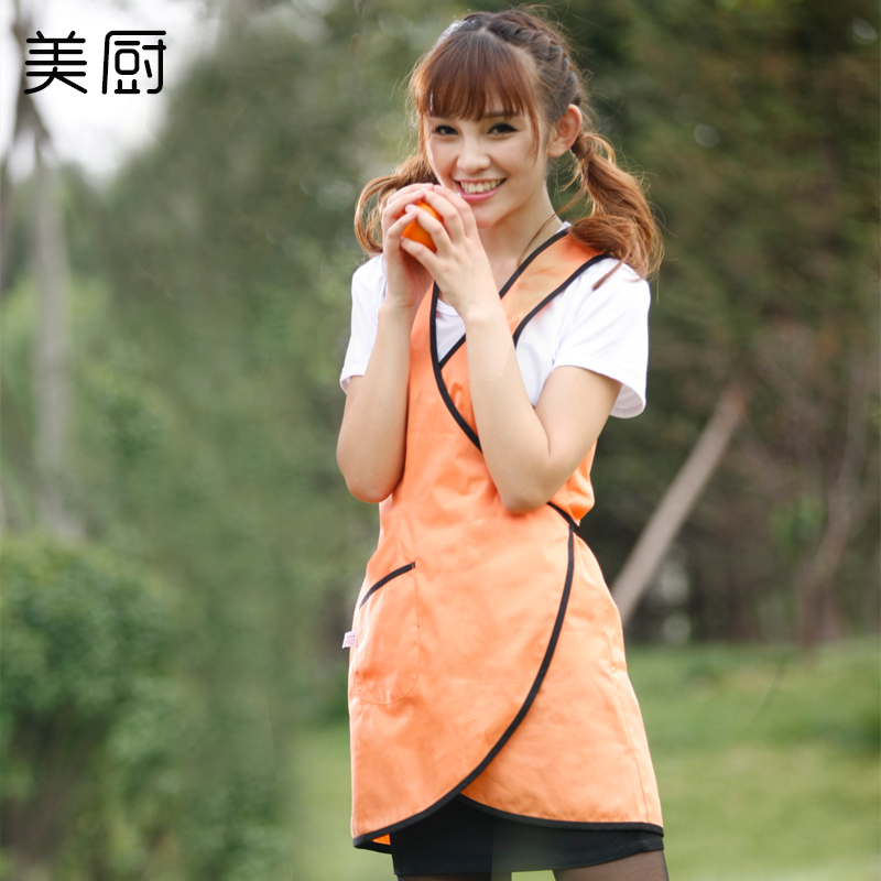 Korean version of the home kitchen apron beauty nail shop apron aprons aprons overalls hotel restaurant tea shop lady