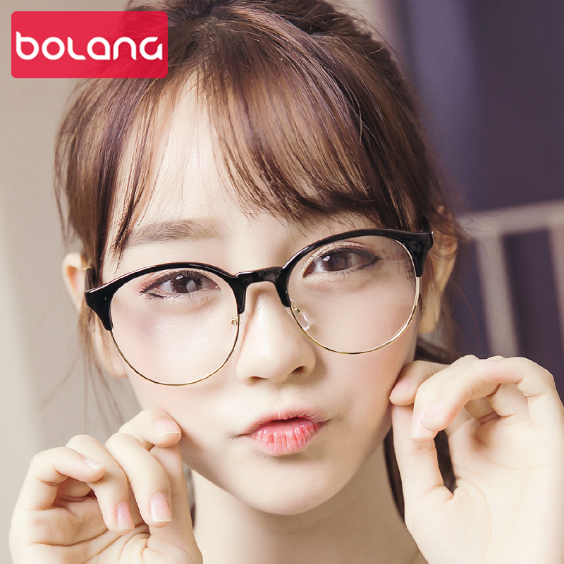 Korean version of the influx of big face big box retro glasses frame 63,1 ping eye glasses finished with radiation literary