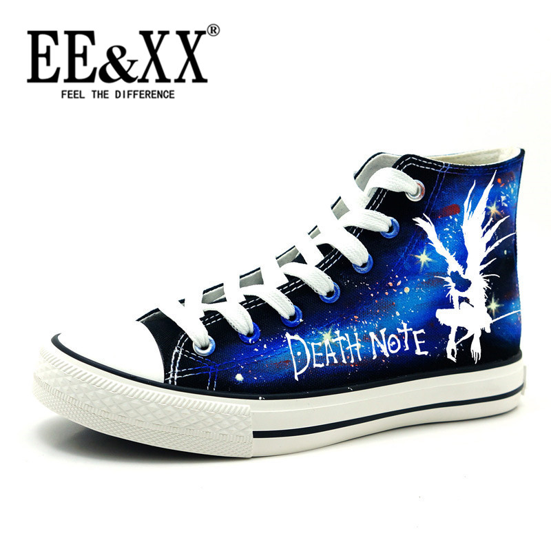 Korean version of the new EEXX2016 death note luminous painted shoes student's personality wild lace canvas shoes 1724
