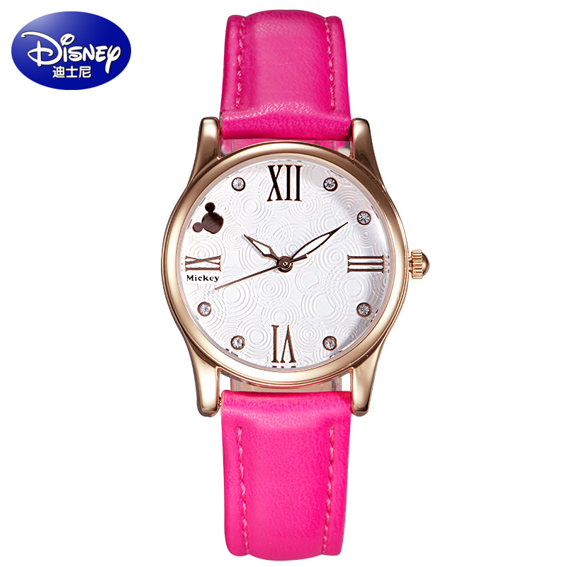 Korean version of the trend of middle school students watch disney girls fashion rhinestone belt watch female form korean version of mickey children