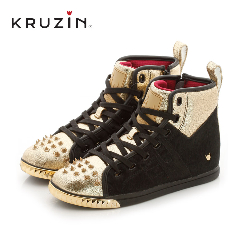 KruZin2016 spring and summer casual shoes to help couples shoes european and american fashion horsehair fight pick hit the color tide shoes men