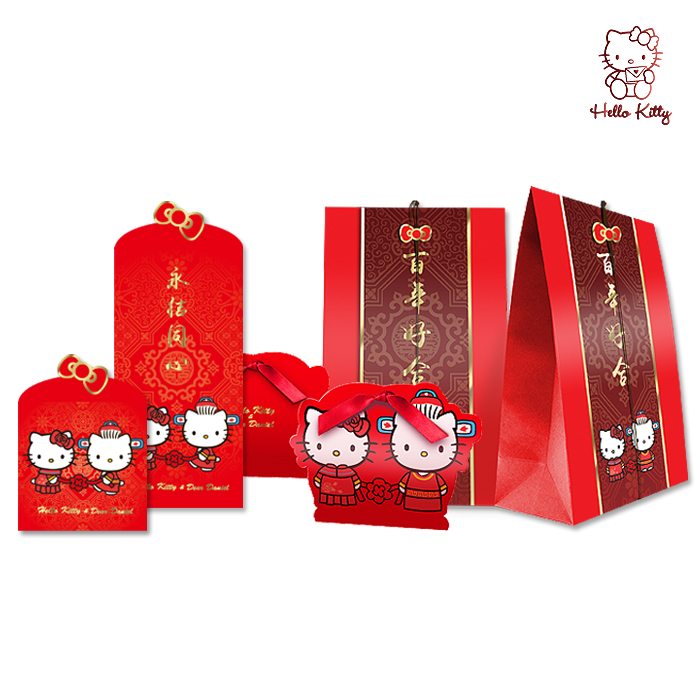Kt custom wedding package creative cartoon red envelopes red envelopes wedding favor candy box packaging