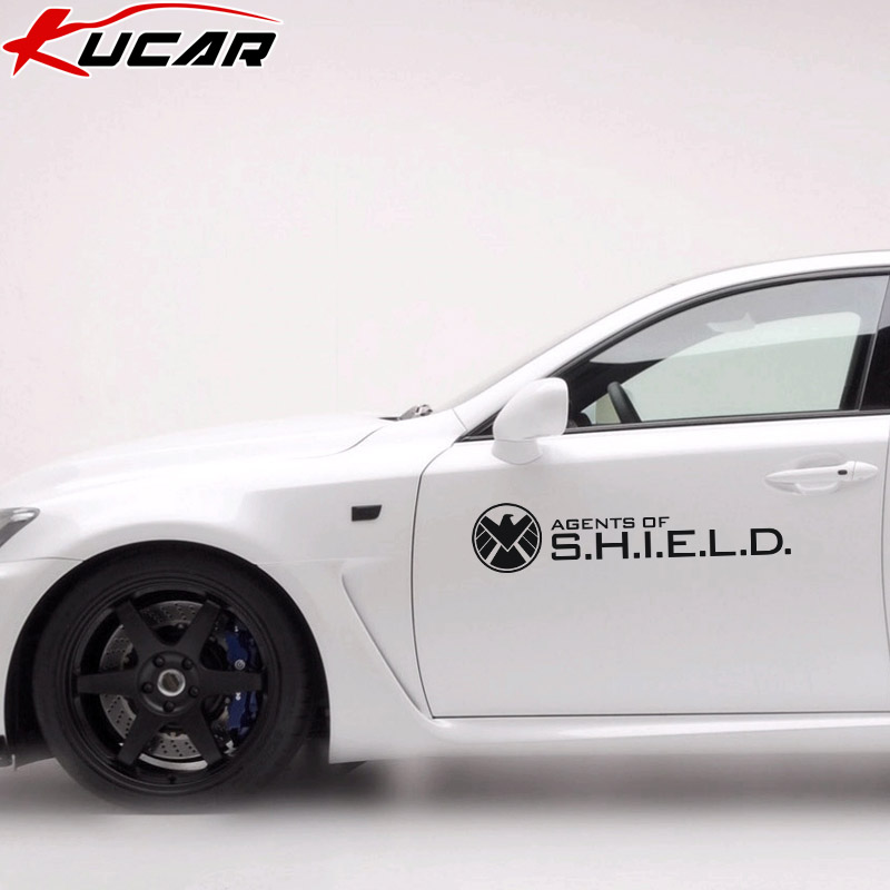Kucar car stickers s.h.i.e.l.d. revenging union body reflective stickers cover scratches car stickers car door glass rear bumper stickers