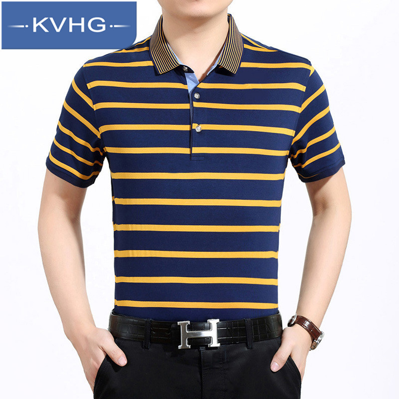 Kvhg business casual men's short sleeve t-shirt men 2016 new european and american style casual men's polo shirt iron 6810