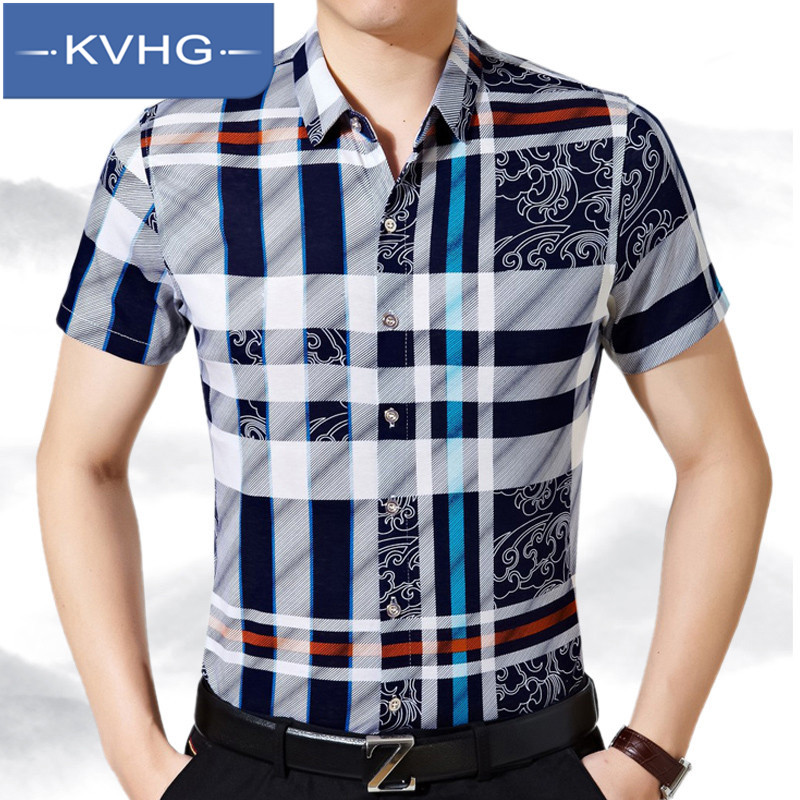 Kvhg summer middle-aged men middle-aged men pointed collar casual shirt wild bottoming shirt 2016 new casual men's dad installed 6444