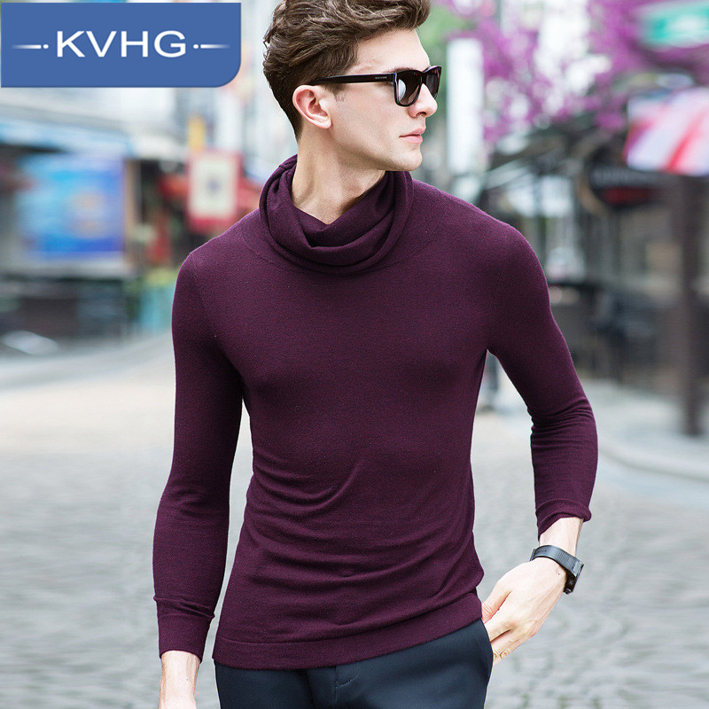 KVHG2016 dongkuan hedging relaxed casual korean version of a solid color sweater influx of men hit the end of men's sweater 3372