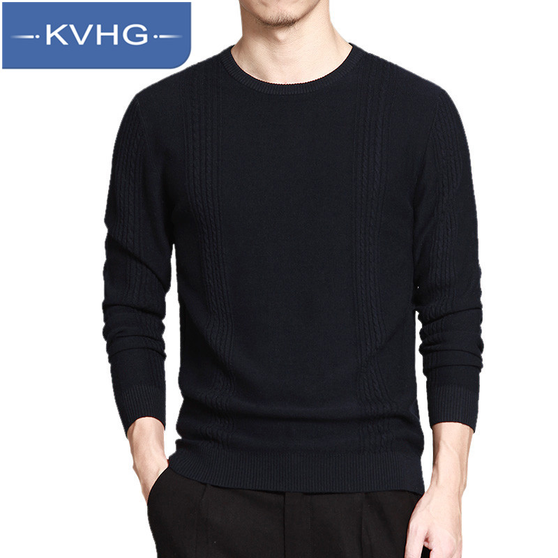 KVHG2016 new casual sweater thin section hedging sweater bottoming young men round neck sweater thin sweater 6701