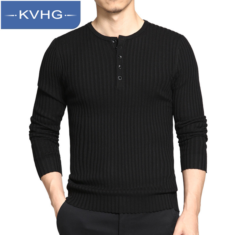 KVHG2016 new youth fashion round neck t-shirt long sleeve solid wild european and american wind shu proper influx of men 0951