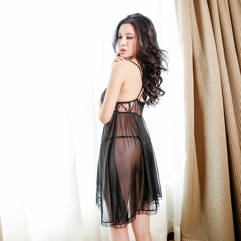 a8690848054d Get Quotations · Lace lingerie sexy sleepwear female temptation big yards  transparent straps sm sao sleep skirt piece fitted