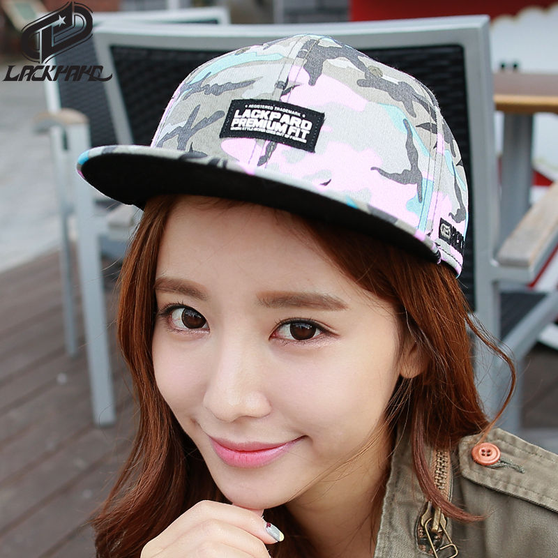 Lackpard hat female hip-hop hat cap korean tidal flat brimmed hat baseball cap hat korean version of the floral autumn and winter days benn hat