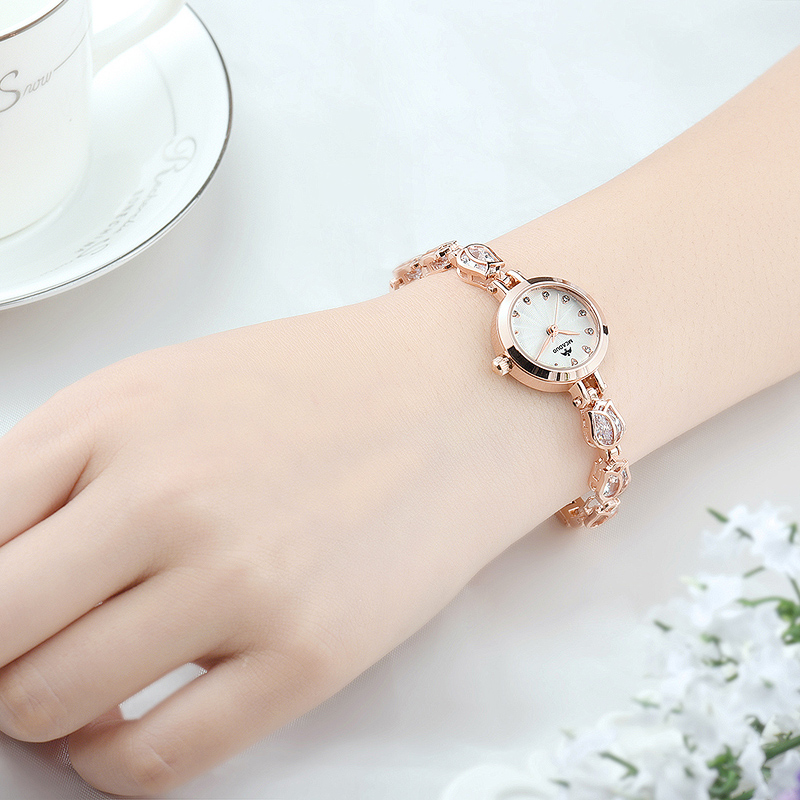 Get Quotations · Bracelet watches girls watches korean version of the simple small decorative female form diamond ladies watches