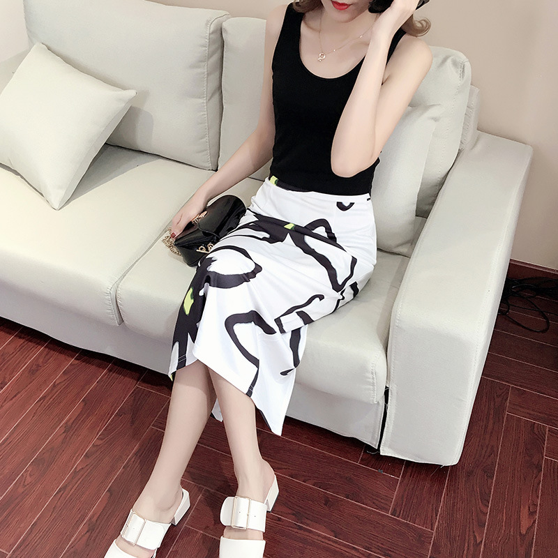Lady rui/rui lady 2016 summer new vest printed skirt piece leisure suit women's fashion