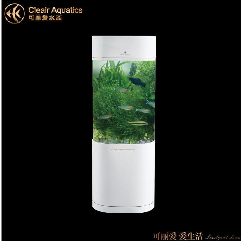 Lai love cleair acrylic aquarium fish tank aquarium fish tank vertical oval LS-T shipping